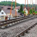 Einheben der Gleisjoche